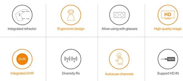 FXT VIPER FPV goggles features