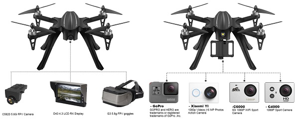 Eachine EX2H camera options
