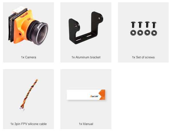 Orange RunCam Micro Eagle package content