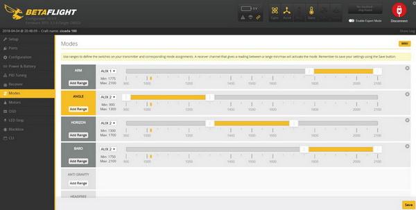 Helifar X140 PRO mini FPV drone review: BetaFlight settings