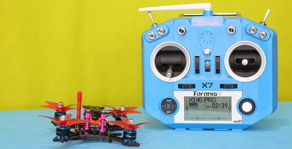 Helifar X140 PRO mini FPV drone review: Binding with Taranis Q X7