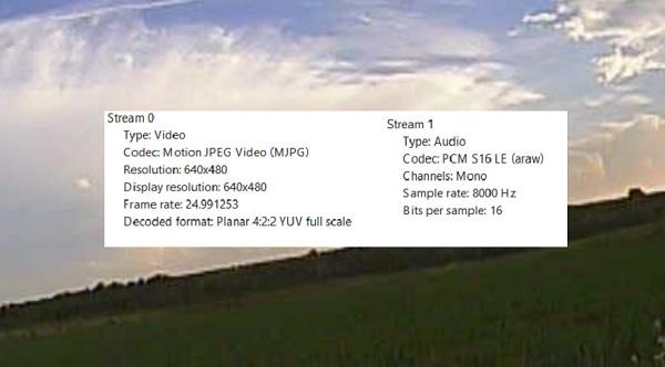 AKK Infinite DVR VTX review: Codec info