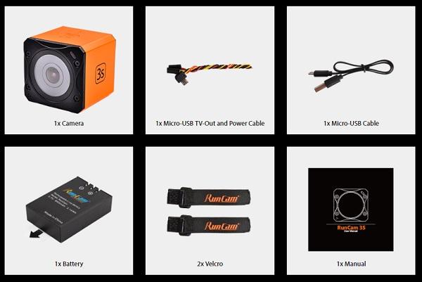 RunCam 3S camera box content