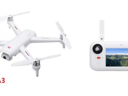FIMI A3 GPS enabled drone with full hd camera