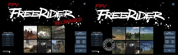 FPV Freerider Clasic vs FPV Freerider Recharged