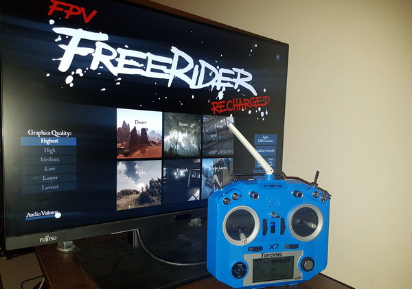 My first FPV simulator: FPV Freerider Classic/Recharged