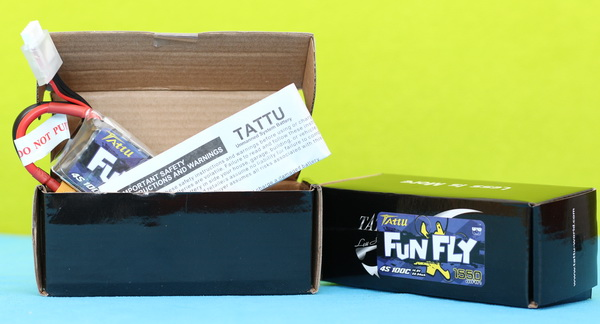 Tattu FunFly LIPO review: Box content