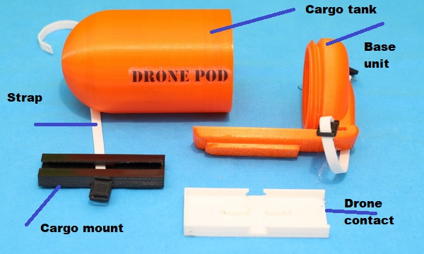 Drone Pod Cargo system review: Parts details