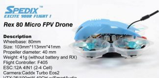 Spedix Rex 80mm FPV drone