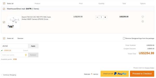 Xiaomi FiMI A3 discount code