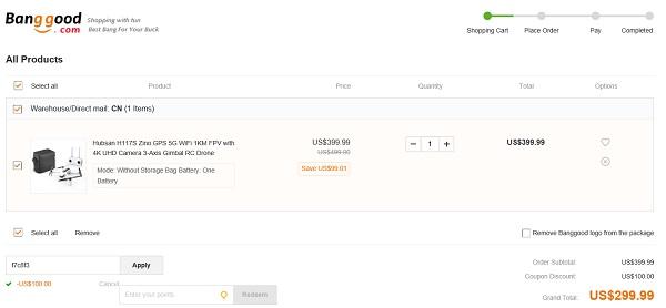 hubsan zino $100 off discount code