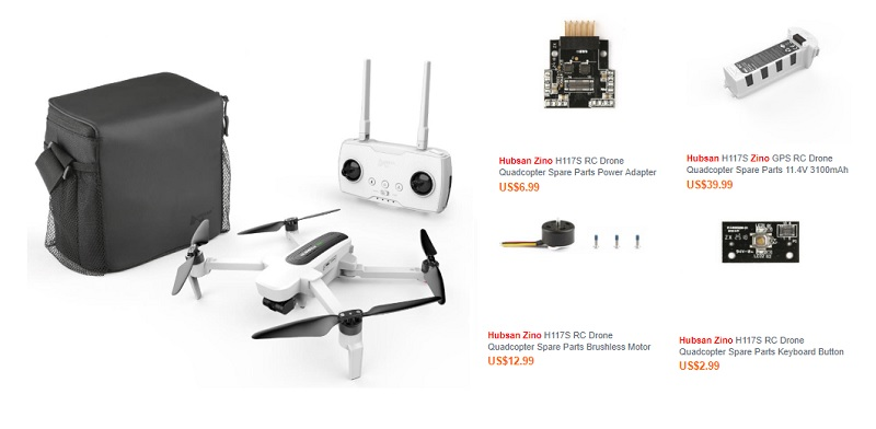 Hubsan Zino spare parts & accessories   First Quadcopter
