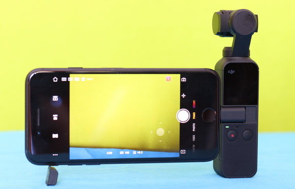 DJI Osmo Pocket Review: Phone attached