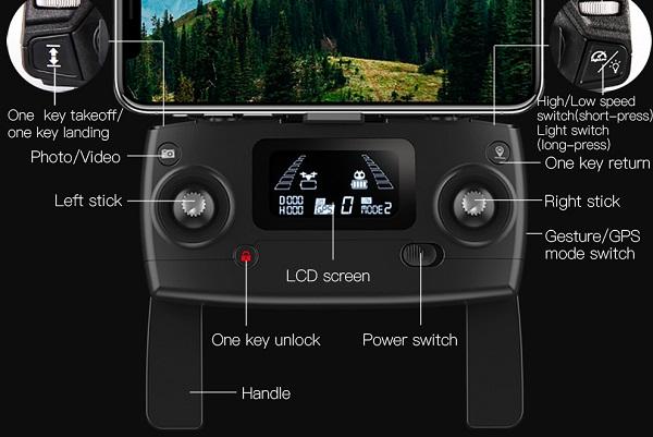 MJX B4W transmitter button layout