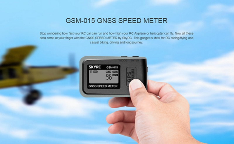 SKYRC GSM-015 GPS speed meter for drones | First Quadcopter
