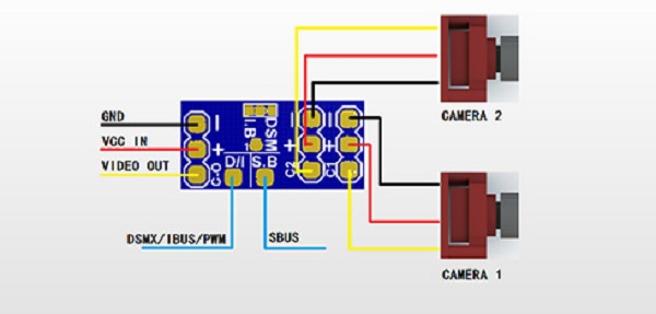 VIFLY Camera Switcher review: Wiring diagram
