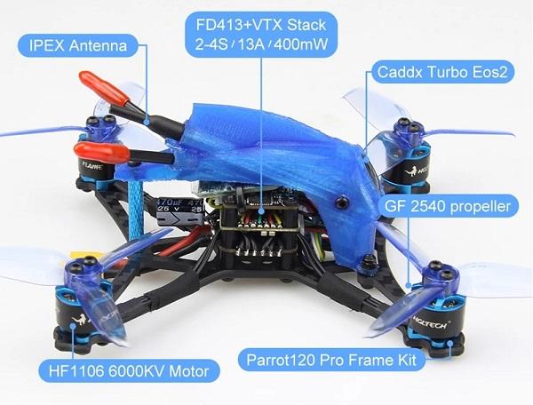 HGLRC Parrot120 Pro main parts