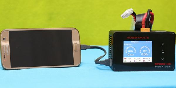Using HOBBYMATE Speed H6 for phone charging