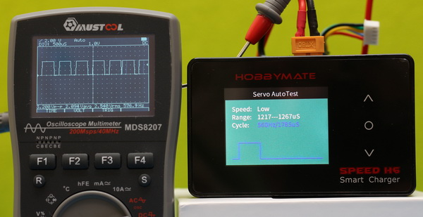 Servo tester feature of HOBBYMATE Speed H6