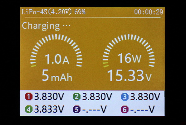 HOBBYMATE Speed H6 charger review: User interface