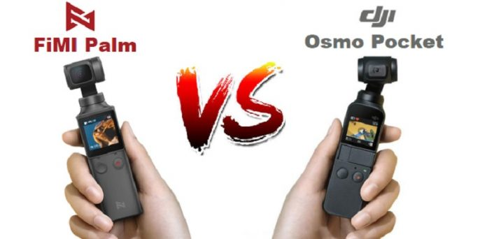Side by side view of Osmo Pocket and FiMI Palm