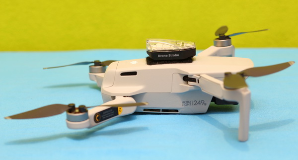 Drone strobe light review: Mavic Mini Test