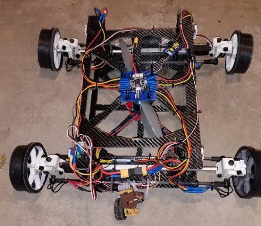 Flying car drone DIY project