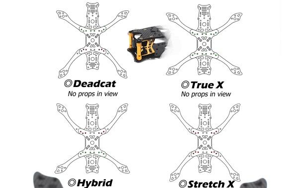 Frame shapes (Deadcat, TrueX, Hybrid and StretchX)