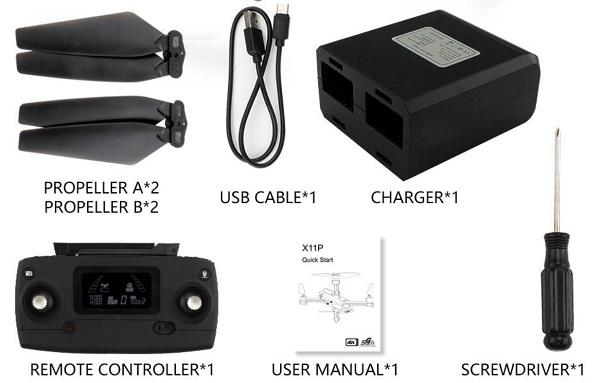 JJRC X11P accessories