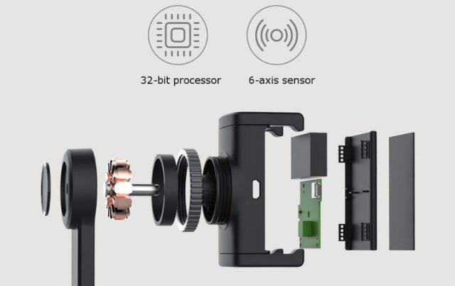 Xiaomi Yuemi one-axis gimbal design