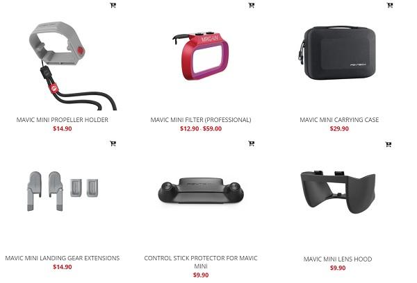 All PGYTECH Mavic Mini accessories