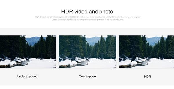 FIMI X8SE 2020 has HDR video