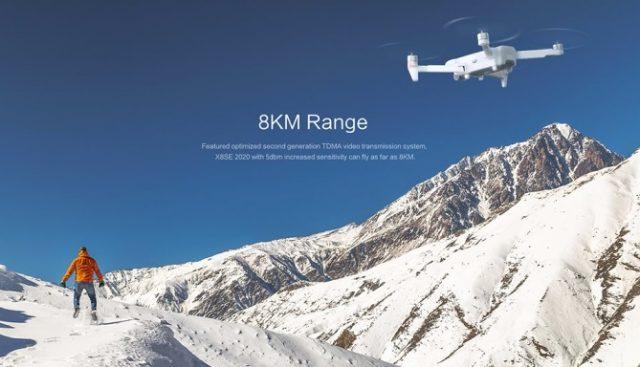 FIMI X8SE 2020 has 8KM range