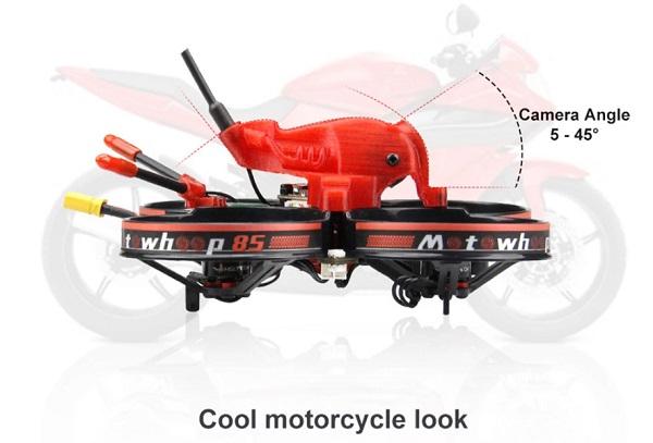 HGLRC MotoWhoop 85 has motorcycle look design