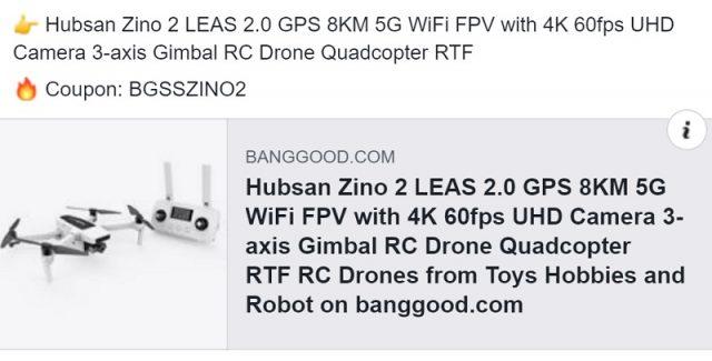 Zino 2 coupon deal