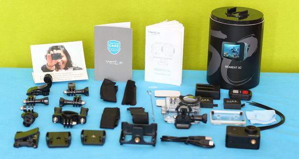 Accessories included with Vantop Moment 5C camera