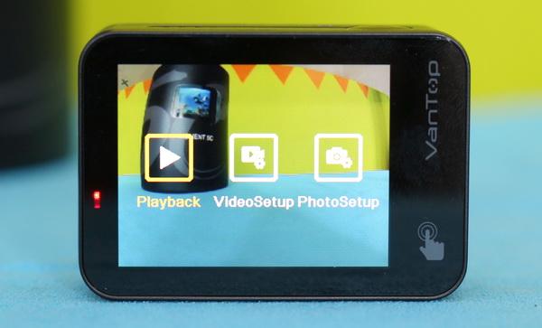 Vantop Moment 5C camera review: Controls