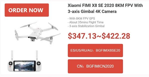 FIMI X8SE 2020 Coupon deals