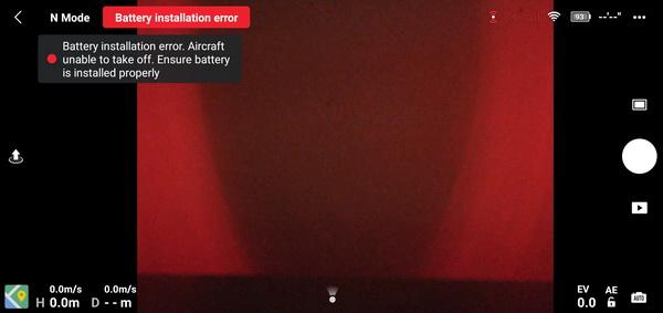 Mavic Air 2 battery error