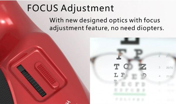 Goggles focus adjustment