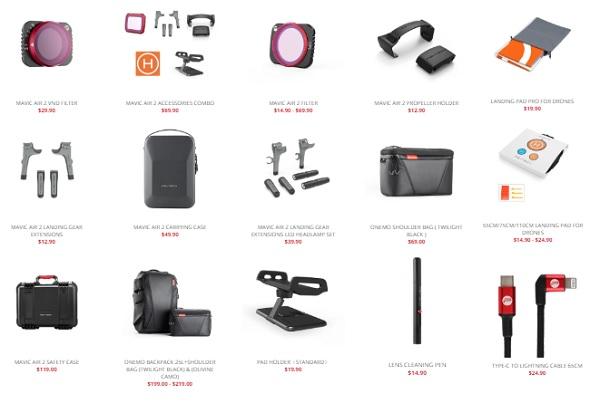 More PGYTech Mavic Air 2 accessories