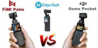 Feiyu Pocket vs Osmo Pocket vs FiMI Palm gimbals
