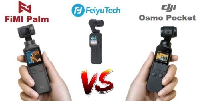 Feiyu Pocket vs Osmo Pocket vs FiMI Palm gimbals