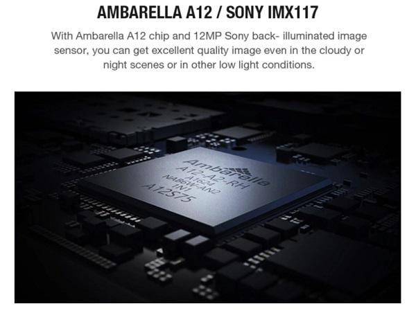 Tech specs of Foxeer 4K image cpu