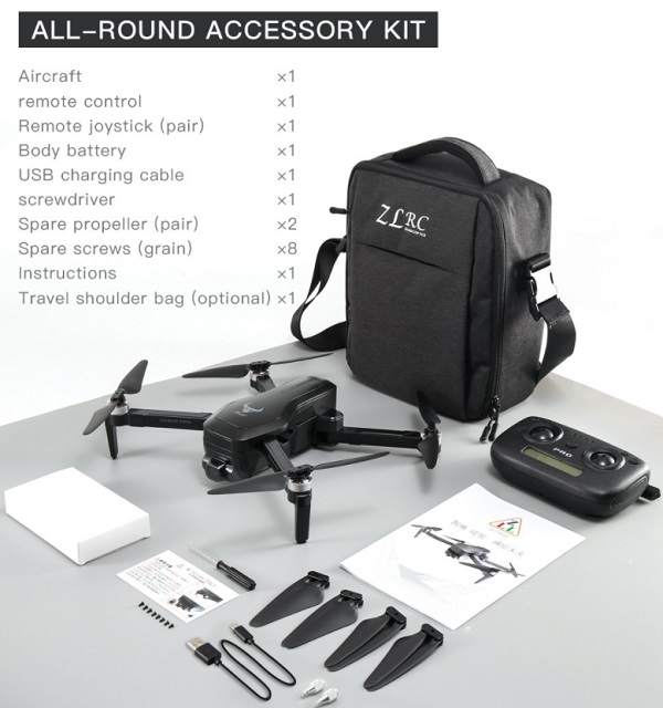 Accessories included with ZLRC SG906 Pro 2