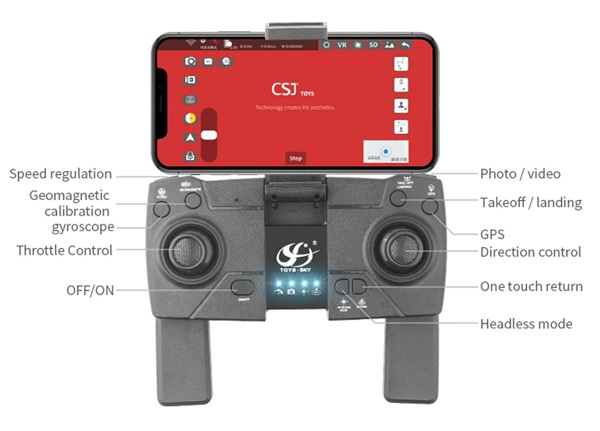 Transmitter of CSJ S177 drone