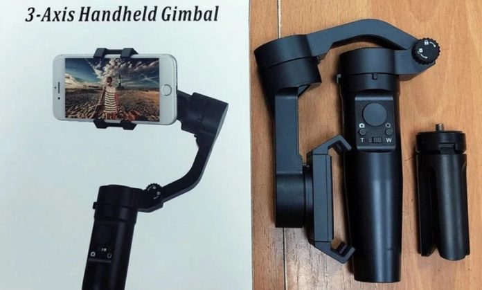 photo of LEDISTAR F3 phone gimbal