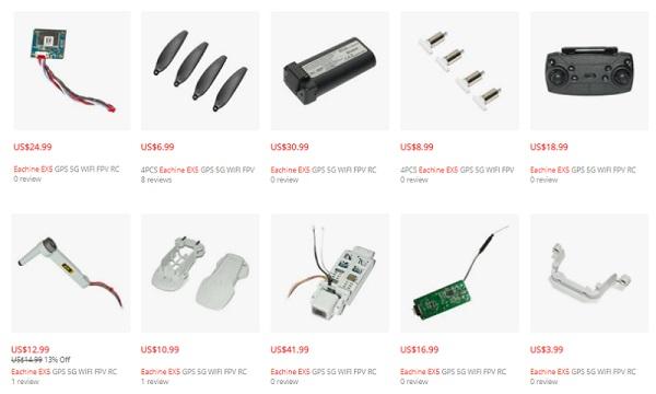 EX5 repair parts prices