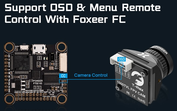 Foxeer TRex Micro camera wiring to FC