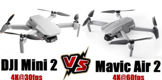 DJI MINI 2 versus Mavic Air 2